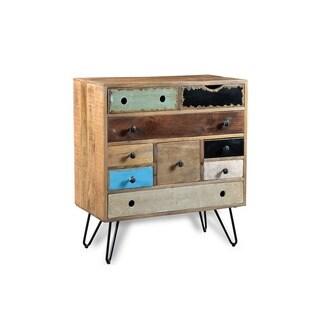 Handmade Timbergirl Suman 9 Drawer Storage Cabinet (India)