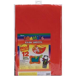 Foam Sheets 12inX18in 12/PkgBasic Colors