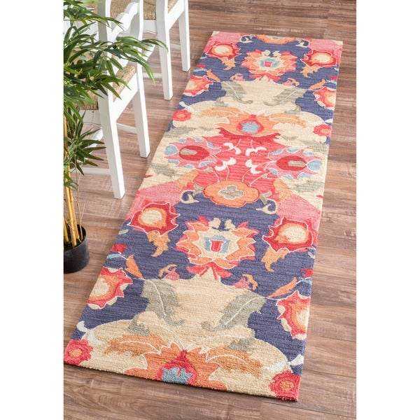 nuloom handmade carousel multi runner rug 2 39 6 x 8 39 free shipping today. Black Bedroom Furniture Sets. Home Design Ideas