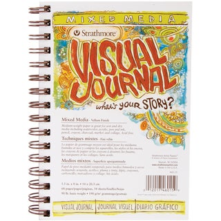 Strathmore Visual Journal Mixed Media Vellum 5.5inX8in34 Sheets