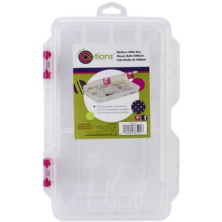 Creative Options Pro Latch Utility Box 620 Compartments10.875inX7.25inX1.625in Clear W/Magenta