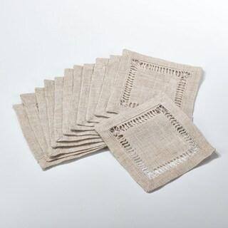 Hemstitched Coaster - set of 12