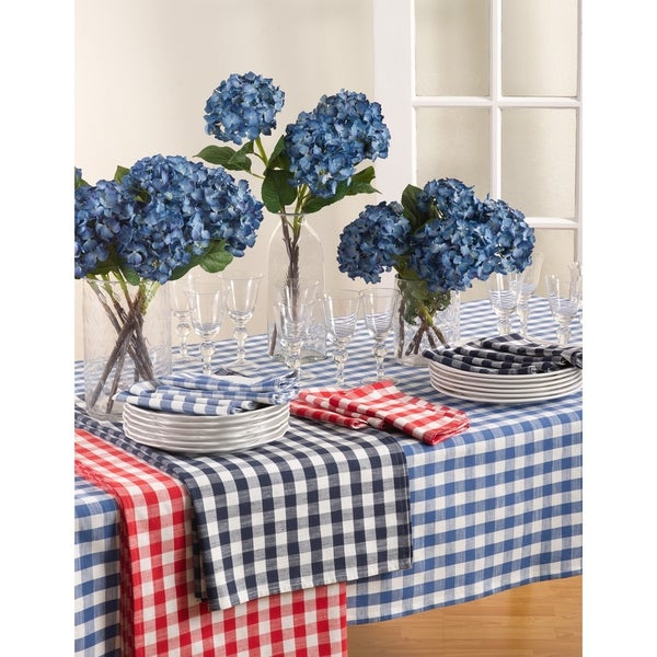 Gingham Design Tablecloth