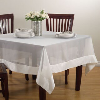 Sheer Tablecloth With Satin Border
