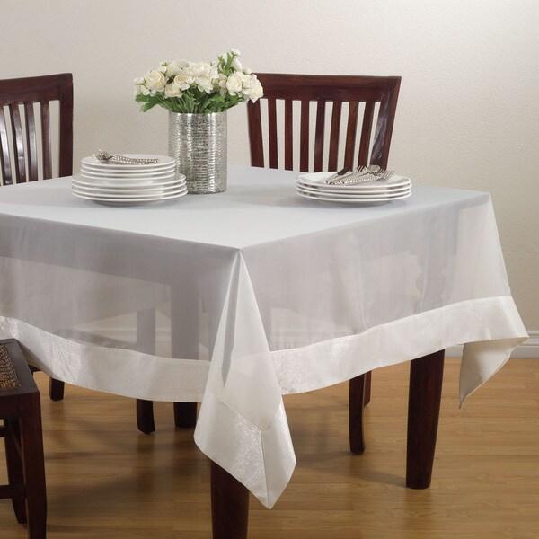 Sheer Tablecloth With Satin Border