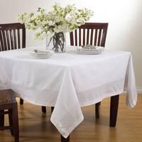 Silver Stripe Border Design Tablecloth