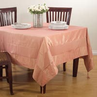 Solid Color Tasseled Tablecloth
