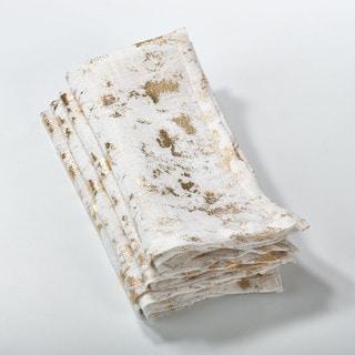 Abstract Brushed Foil Design Napkin (Set of 4)