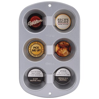 Recipe Right Standard Muffin Pan6 Cavity 13.5inX8.5in