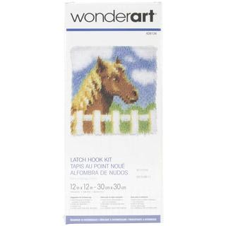 Wonderart Latch Hook Kit 12inX12inPony