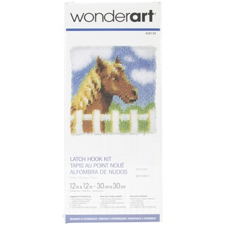 Wonderart Latch Hook Kit 12inX12inPony