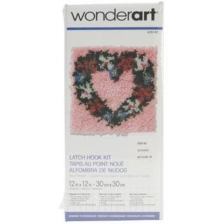 Wonderart Latch Hook Kit 12inX12inHeart Wreath