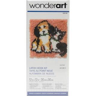 Wonderart Latch Hook Kit 12inX12inBest Friends