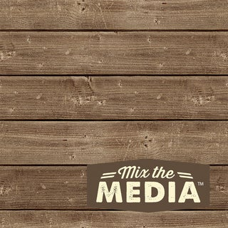 Mix The Media Wooden Plank Plaque6inX6in