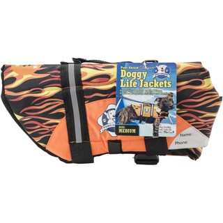 Paws Aboard Doggy Life Jacket MediumRacing Flames