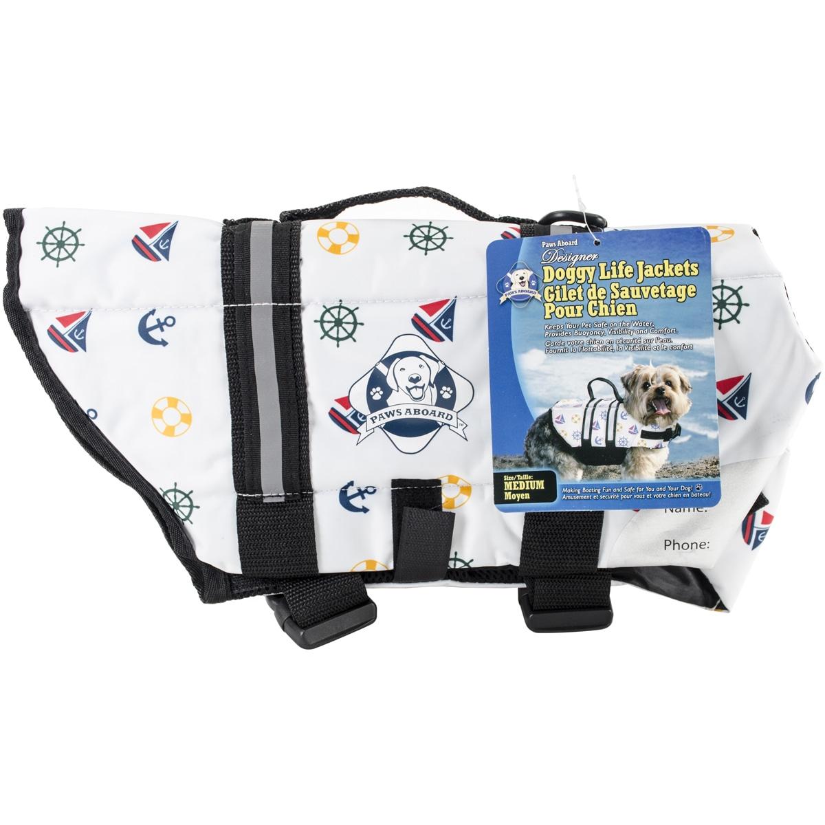 Paws Aboard Doggy Life Jacket MediumNautical Dog (Nautica...