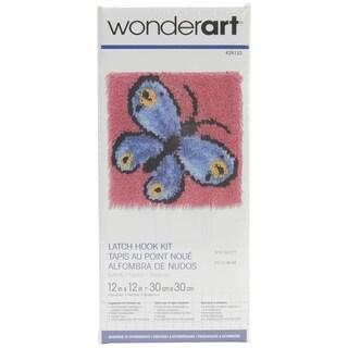 Wonderart Latch Hook Kit 12inX12inButterfly