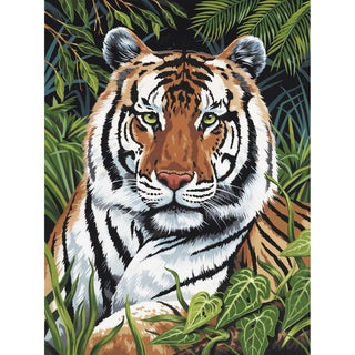 Paint By Number Kit Artist Canvas Series 9inX12inTiger In Hiding