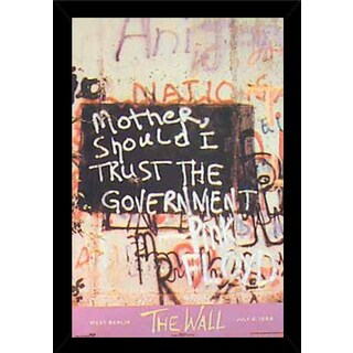 The Wall Poster (23-inches x 35-inches) on Plaque or Woodmount