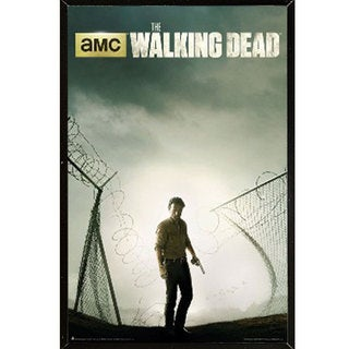 The Walking Dead Season 4 Poster (24-inches x 36-inches) on Plaque or Woodmount