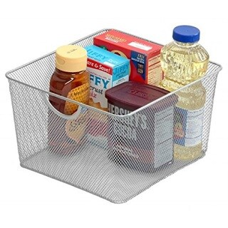 YBM Mesh Open Bin Storage Basket