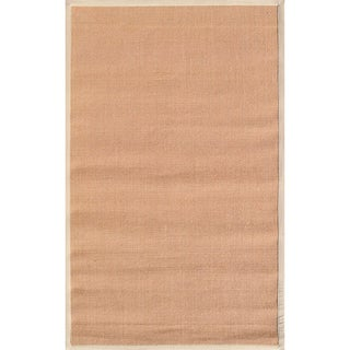 handmade sisal beige border tan sisal rug 5u0027