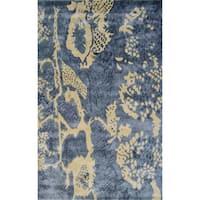 Handmade Silk Uma Grey Rug (5' x 8') - 5' x 8'