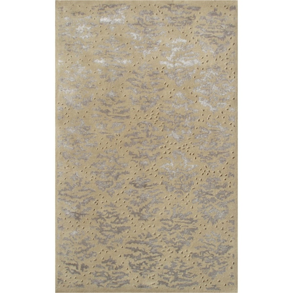 Handmade Wool Captiva Gold Rug - 5' x 8'