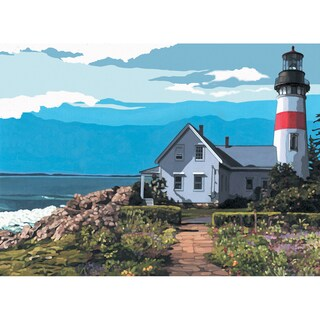 Paint By Number Kit Artist Canvas Series 11inX14inThe Lighthouse