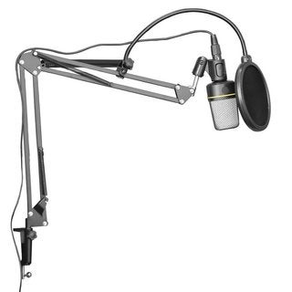Dragonpad Black Microphone Scissor Arm Stand