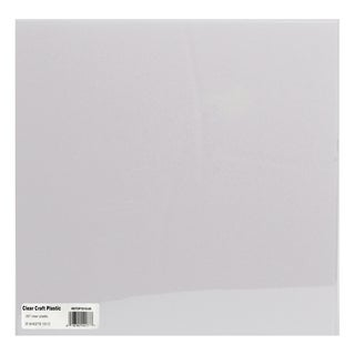 Craft Plastic Sheets 12inX12in 25/PkgClear .007