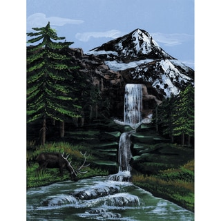 Paint By Number Kit Artist Canvas Series 9inX12inMountain Waterfall
