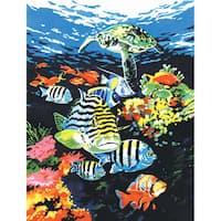 Paint By Number Kit Artist Canvas Series 9inX12inOcean Deep