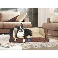 Serta Quilted Orthopedic Foam Large Bolster Couch Pet Bed