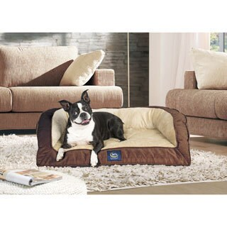 Serta Quilted Orthopedic Foam Large Bolster Couch Pet Bed (3 options available)