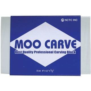 Moo Carving Block4inX6inX.5in