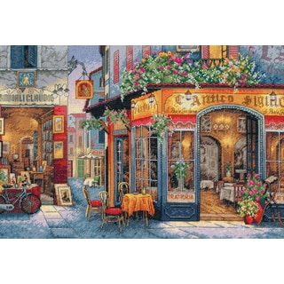 Gold Collection European Bistro Counted Cross Stitch Kit16inX11in 16 Count