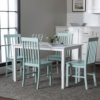 White/ Green 5-piece Dining Set