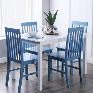 Havenside Home 5-piece White and Powder Blue Dining Set & Blue Kitchen \u0026 Dining Room Sets For Less | Overstock