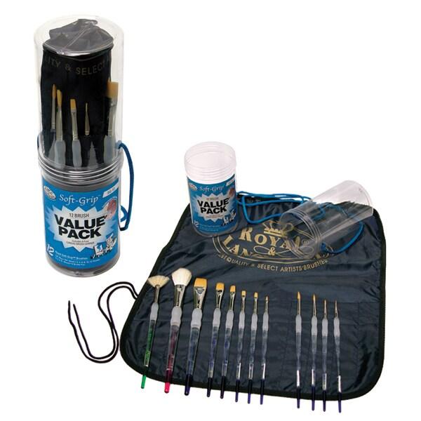 Royal Brush SoftGrip Brush Value Pack 12/Pkg (12/pkg)