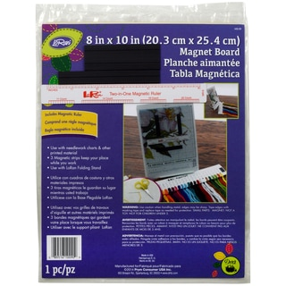 LoRan Magnet Board 8inX10in & 6in Ruler