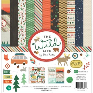 Echo Park Collection Kit 12inX12inThe Wild Life