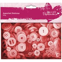 Papermania Buttons Assorted 250gRed