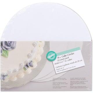 Cake Boards8in Circle 12/Pkg