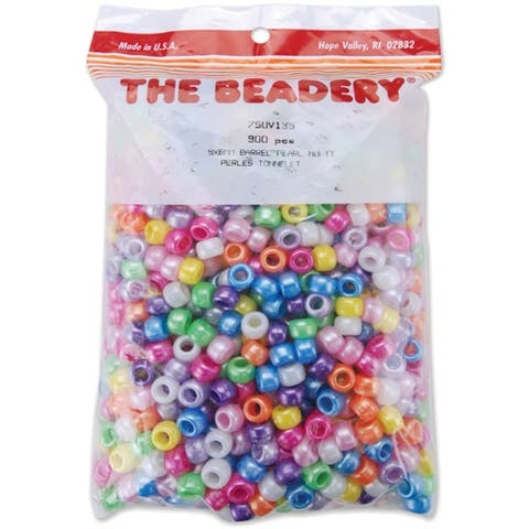 Pony Beads 6mmX9mm 900/PkgPearl Multicolor