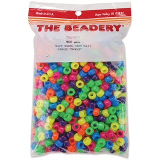 Pony Beads 6mmX9mm 900/PkgNeon Multicolor