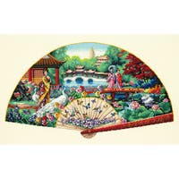 Gold Collection Garden Fan Counted Cross Stitch Kit16inX10in 18 Count