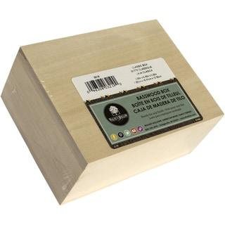 Basswood Classic Hinged Box3inX6.5inX5in