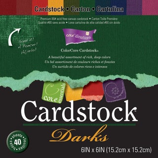 Core'dinations Core Essentials Cardstock Pad 6inX6in 40/PkgDarks