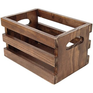 Wooden Photo Crate 4inX6inX4inDark Stain